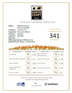 EarthCraft House Platinum Certified
